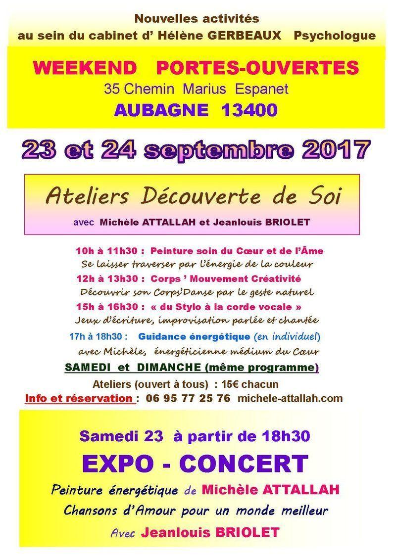Week-end portes ouvertes Expo Concert Découverte de soi